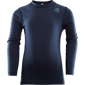 Aclima LightWool Crew Neck Shirt Kinderen, navy blazer